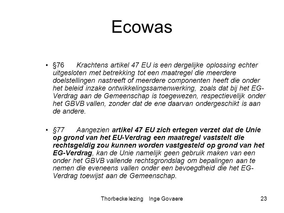 Thorbecke lezing Inge Govaere