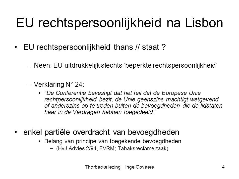 EU rechtspersoonlijkheid na Lisbon