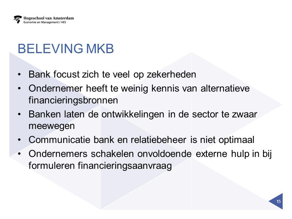 Beleving MKB Bank focust zich te veel op zekerheden