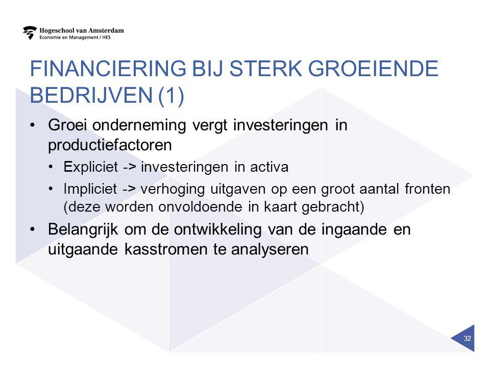 Financiering bij sterk groeiende bedrijven (1)