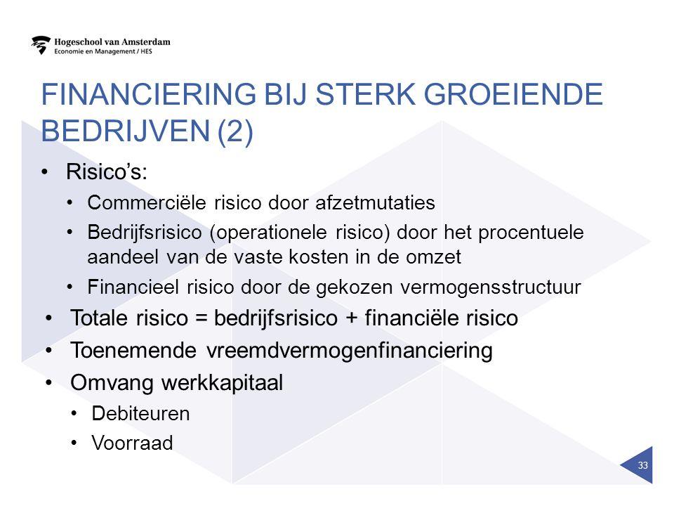 Financiering bij sterk groeiende bedrijven (2)