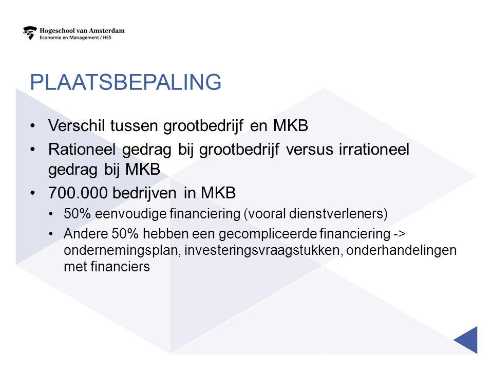Plaatsbepaling Verschil tussen grootbedrijf en MKB