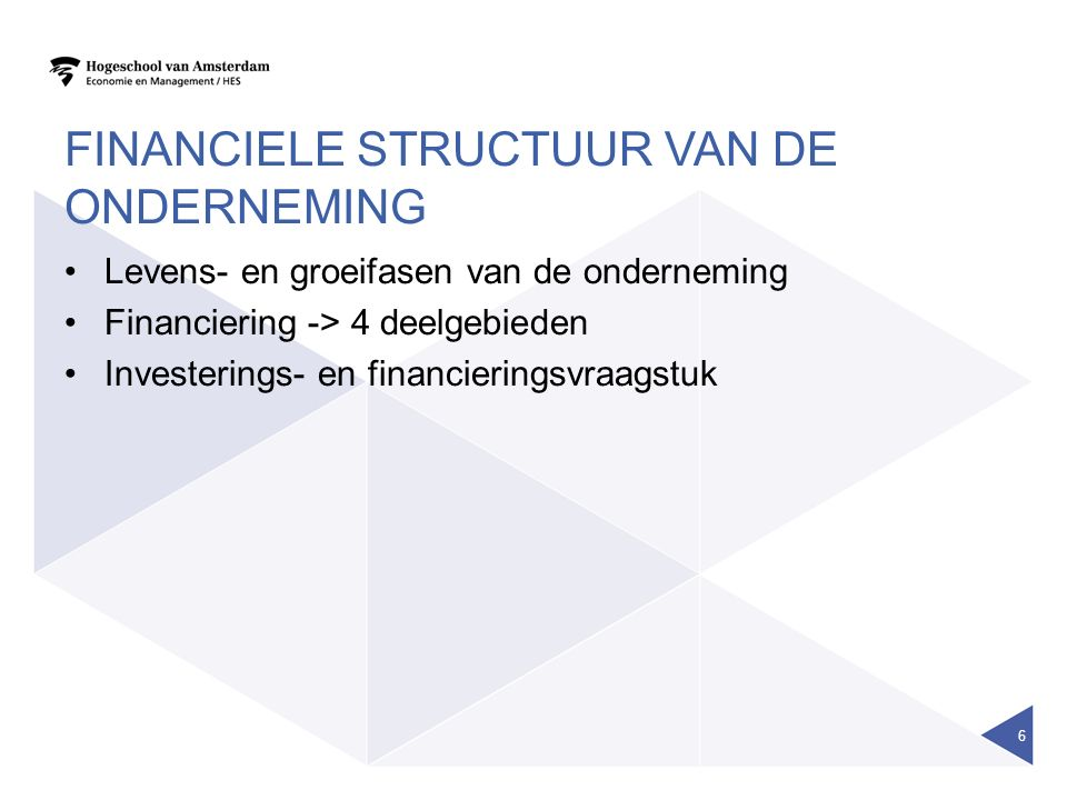 Financiele structuur van de onderneming