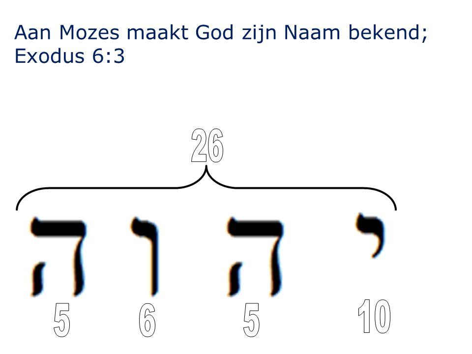 Aan Mozes maakt God zijn Naam bekend;