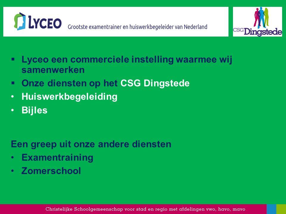 Lyceo een commerciele instelling waarmee wij samenwerken