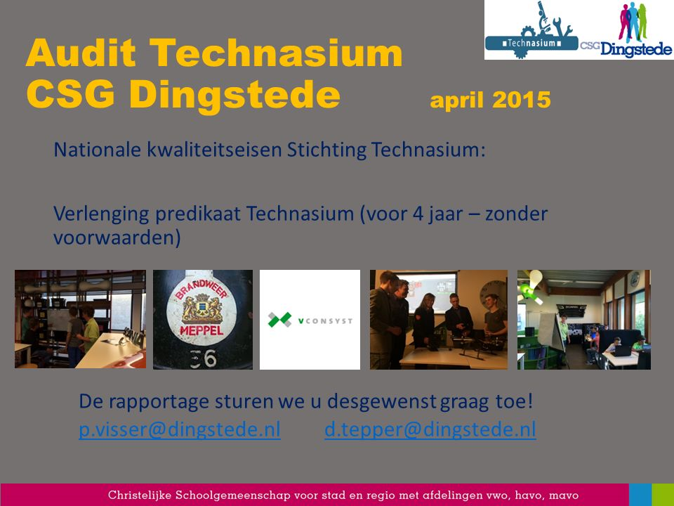 Audit Technasium CSG Dingstede april 2015