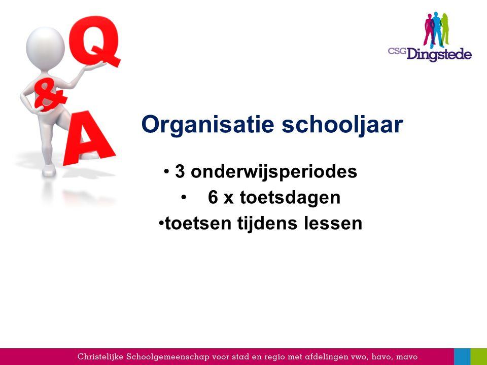 Organisatie schooljaar