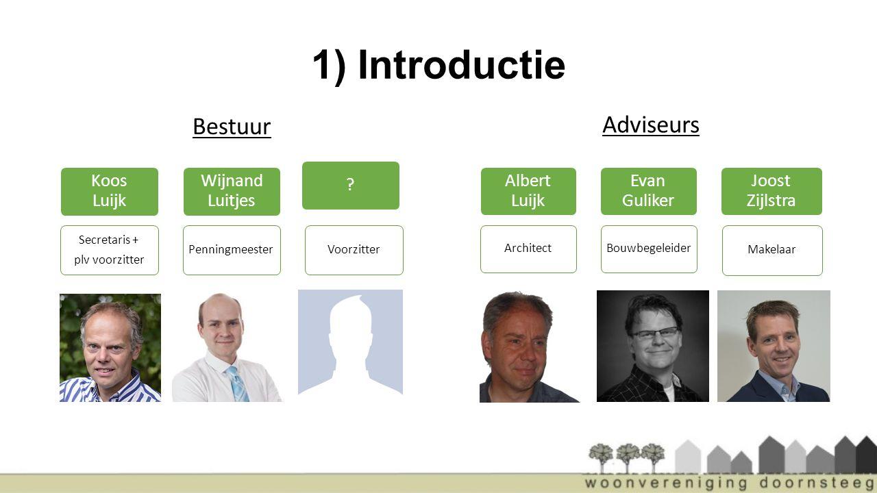 1) Introductie Bestuur Adviseurs Koos Luijk Wijnand Luitjes
