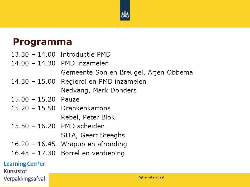 Programma 13.30 – 14.00 Introductie PMD 14.00 – 14.30 PMD inzamelen