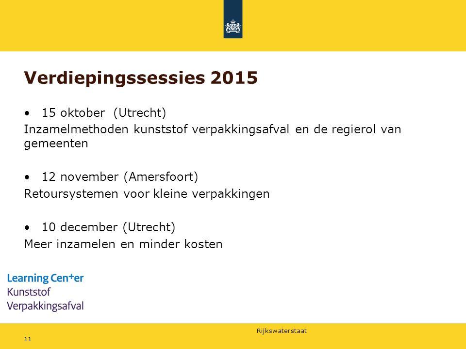 Verdiepingssessies 2015 15 oktober (Utrecht)