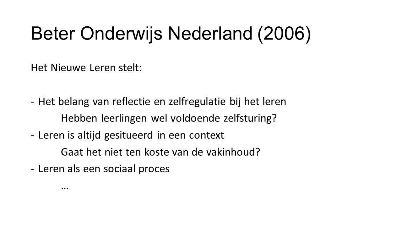 Beter Onderwijs Nederland (2006)