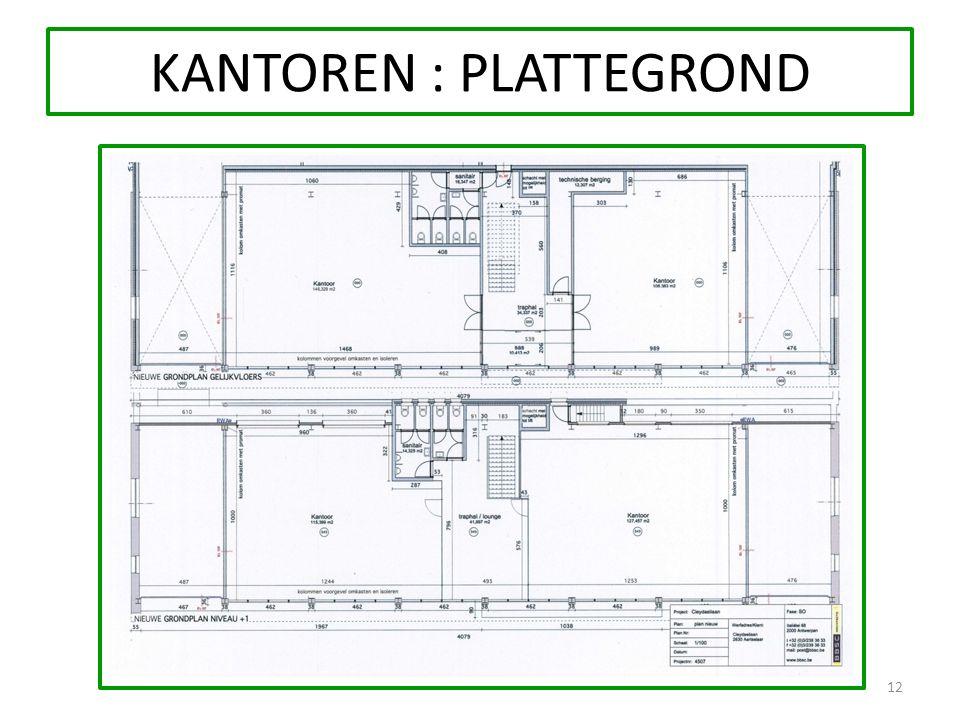 KANTOREN : PLATTEGROND