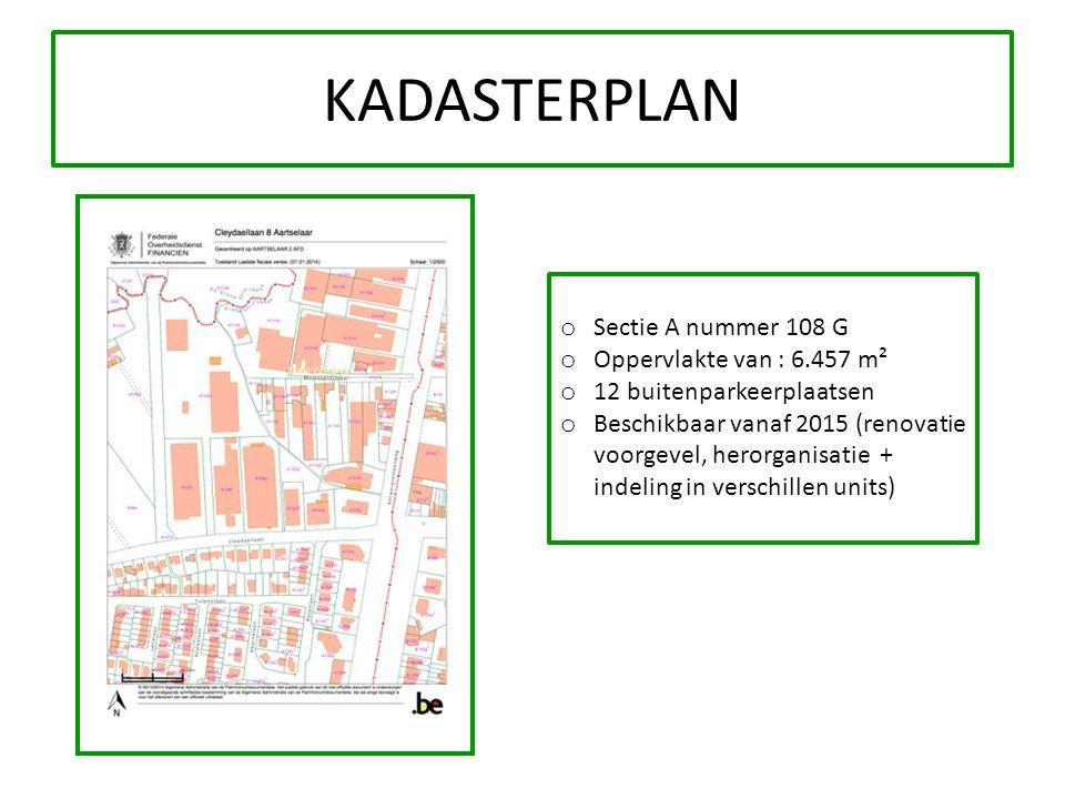 KADASTERPLAN Sectie A nummer 108 G Oppervlakte van : 6.457 m²