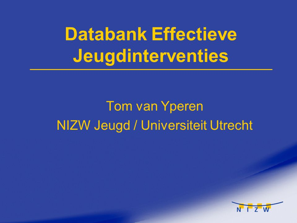 Databank Effectieve Jeugdinterventies