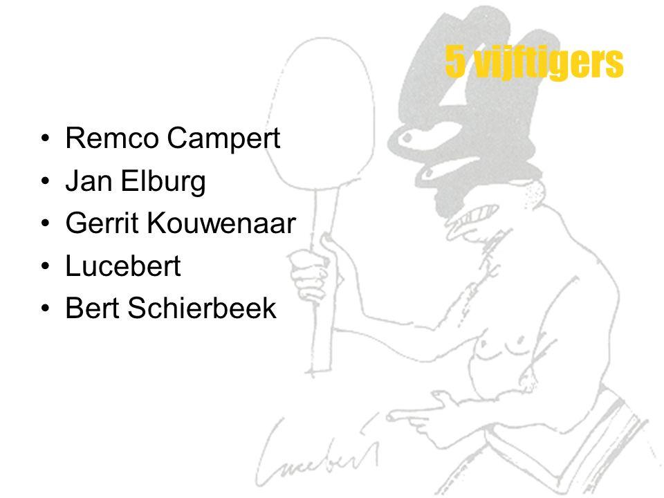 5 vijftigers Remco Campert Jan Elburg Gerrit Kouwenaar Lucebert