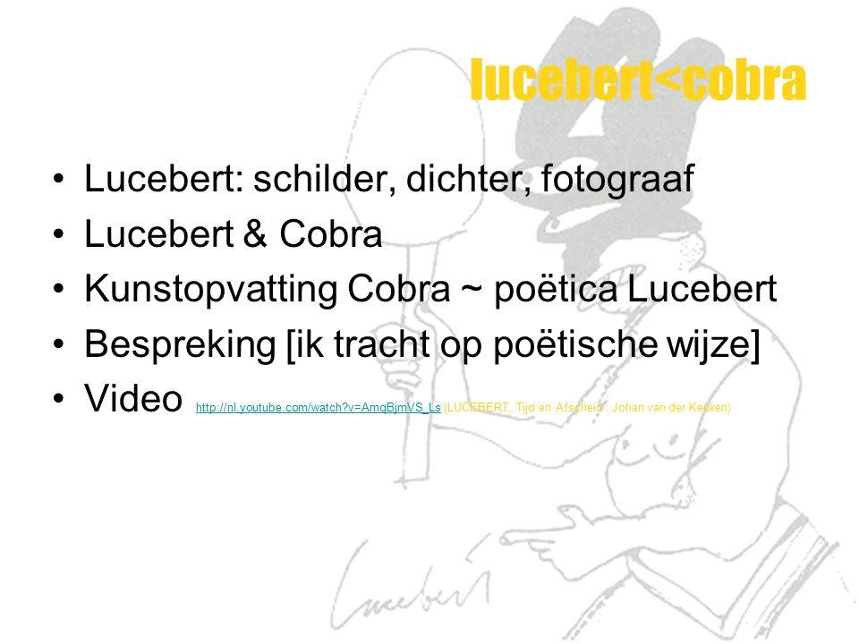 lucebert<cobra Lucebert: schilder, dichter, fotograaf
