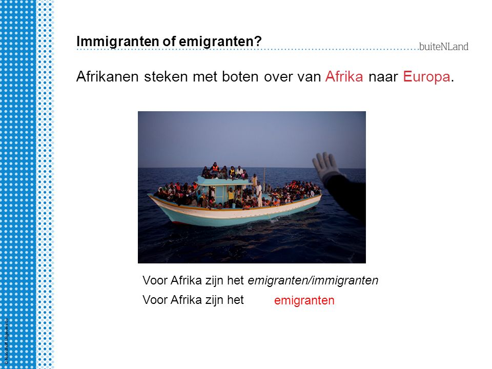 Immigranten of emigranten