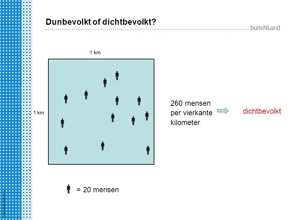 Dunbevolkt of dichtbevolkt