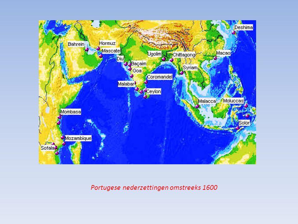 Portugese nederzettingen omstreeks 1600