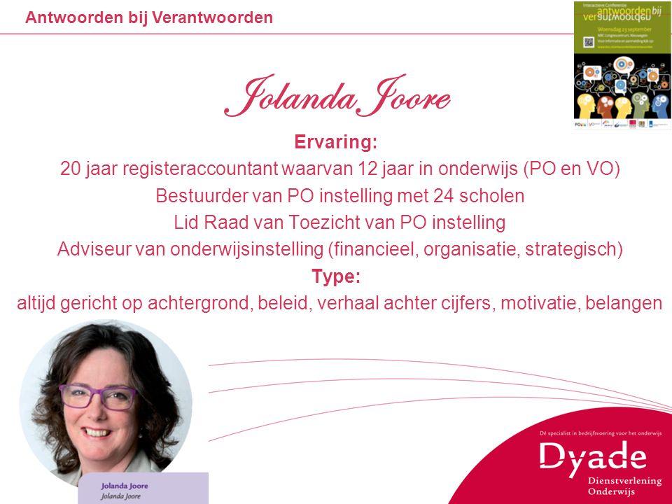 Jolanda Joore Ervaring: