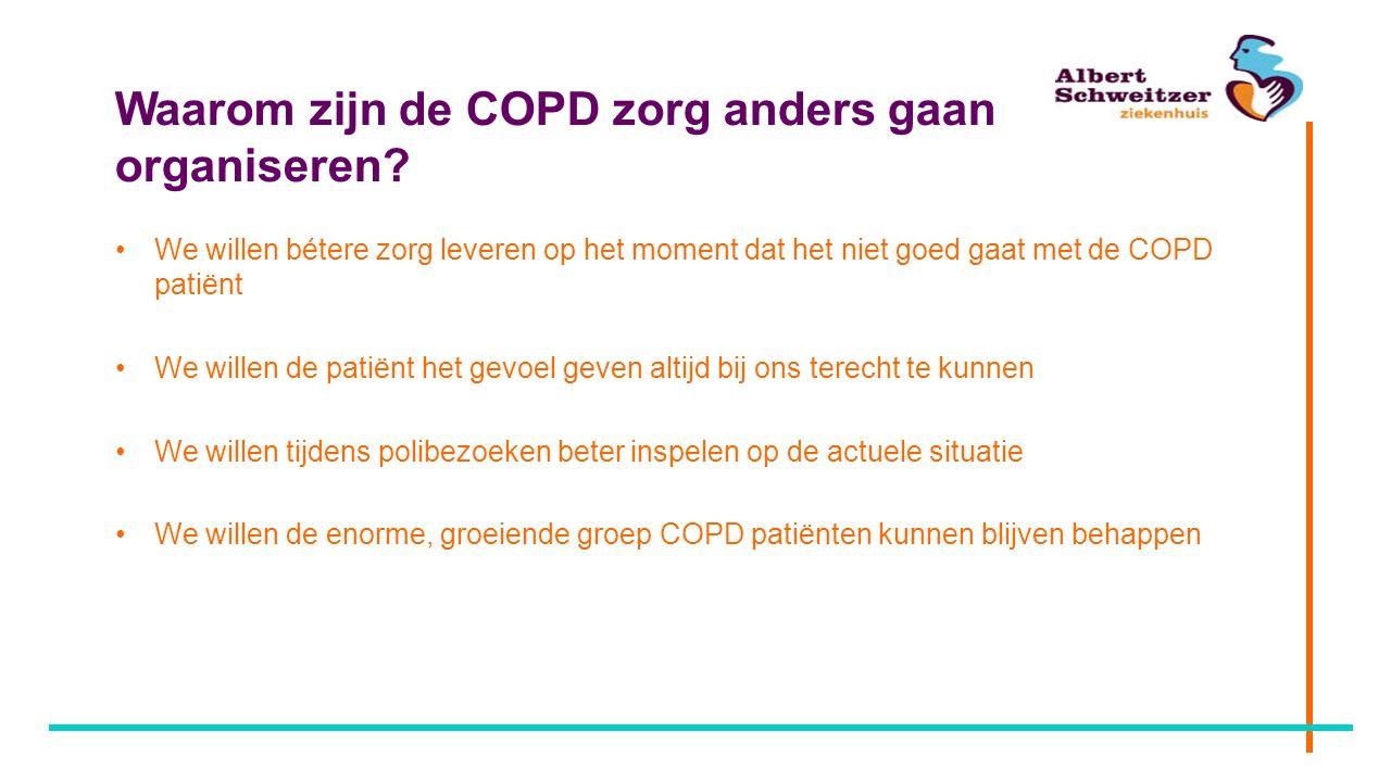Waarom zijn de COPD zorg anders gaan organiseren