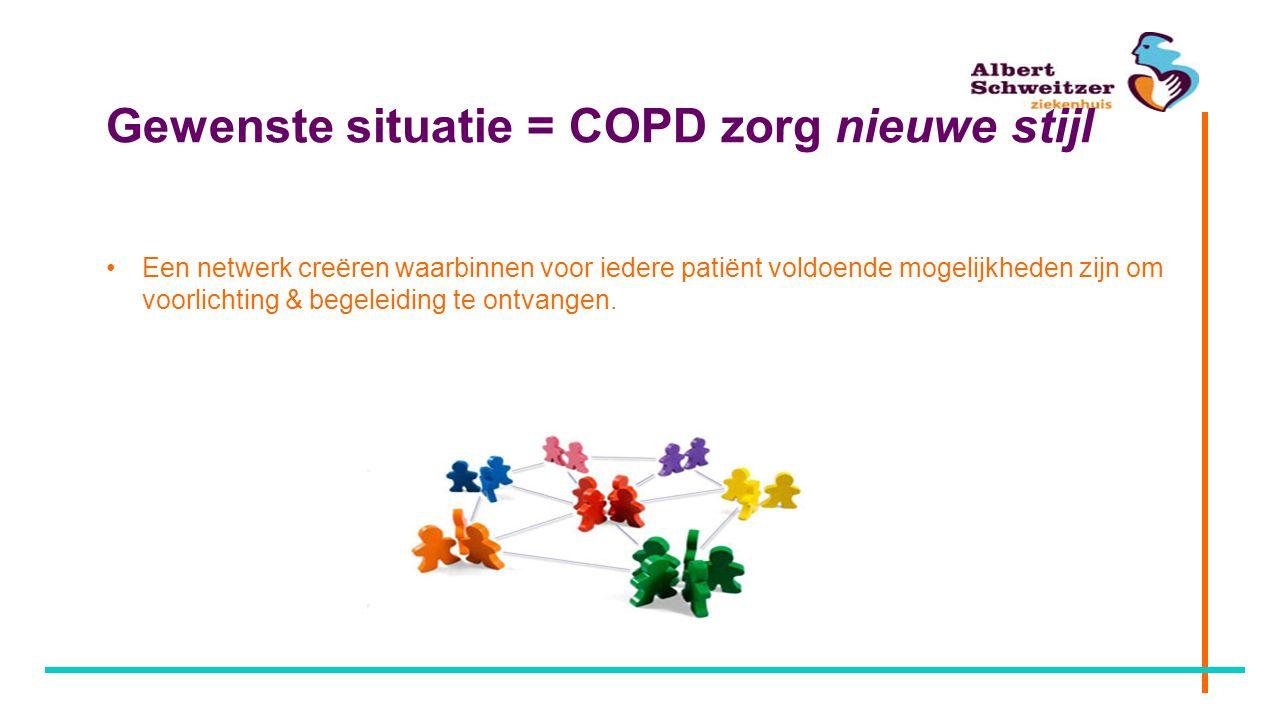 Gewenste situatie = COPD zorg nieuwe stijl