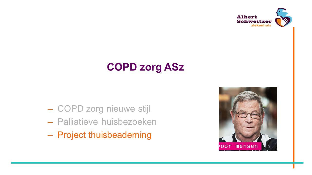 COPD zorg ASz COPD zorg nieuwe stijl Palliatieve huisbezoeken