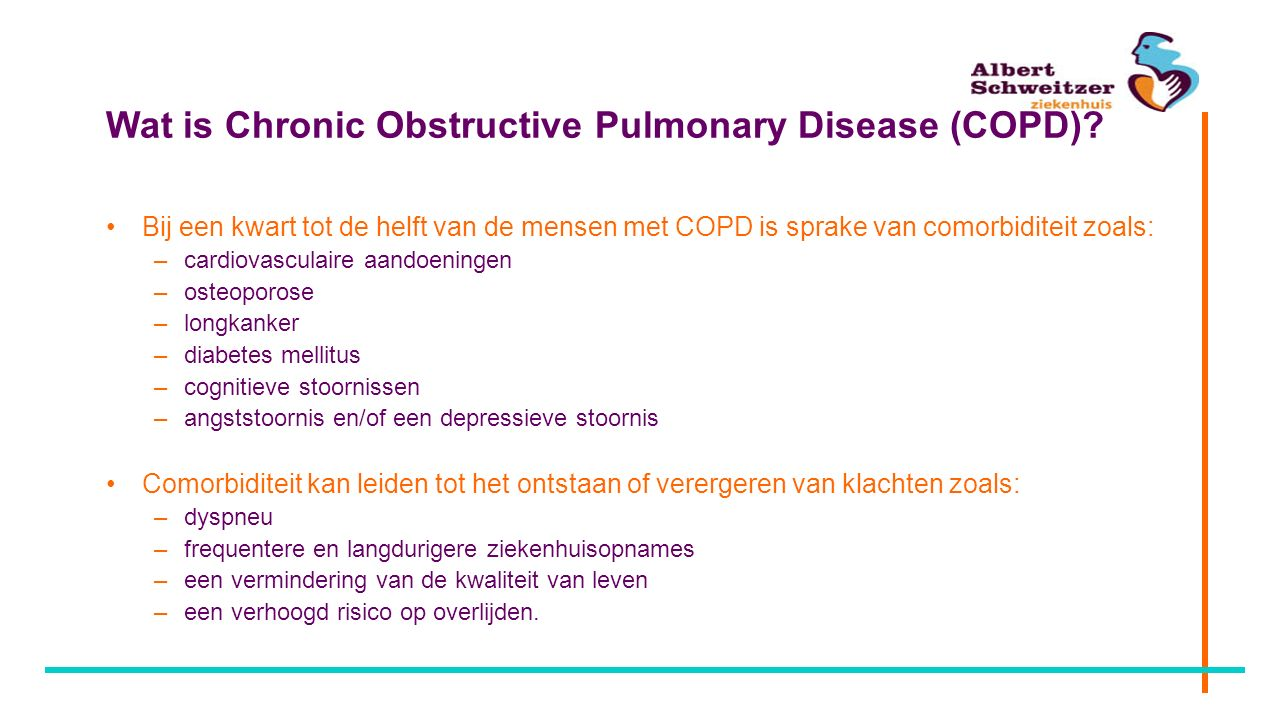 Wat is Chronic Obstructive Pulmonary Disease (COPD)