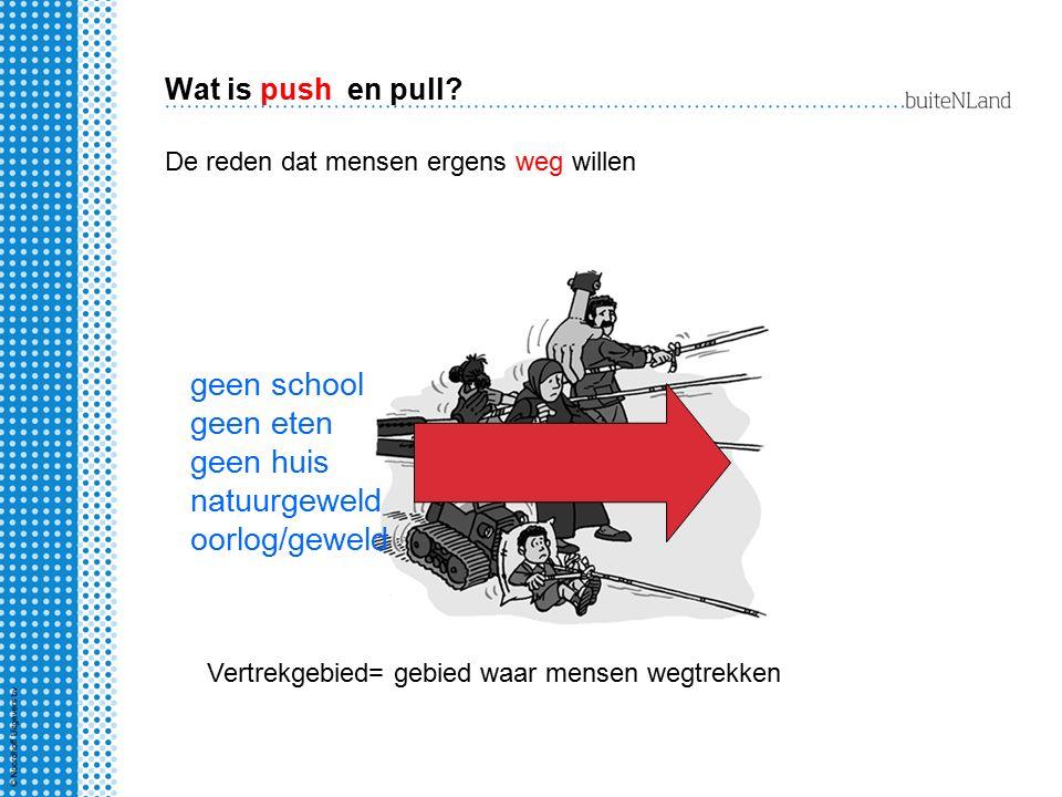 geen school geen eten geen huis natuurgeweld oorlog/geweld