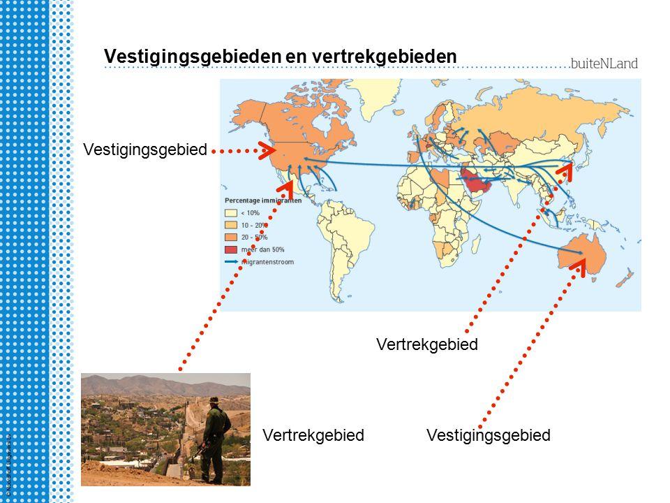 Vestigingsgebieden en vertrekgebieden