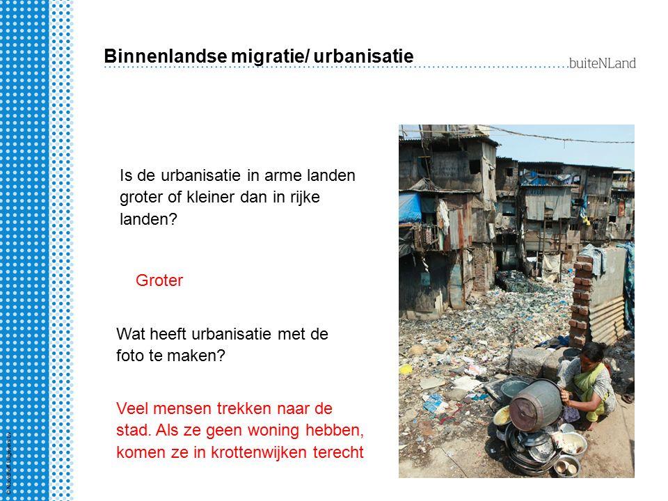 Binnenlandse migratie/ urbanisatie