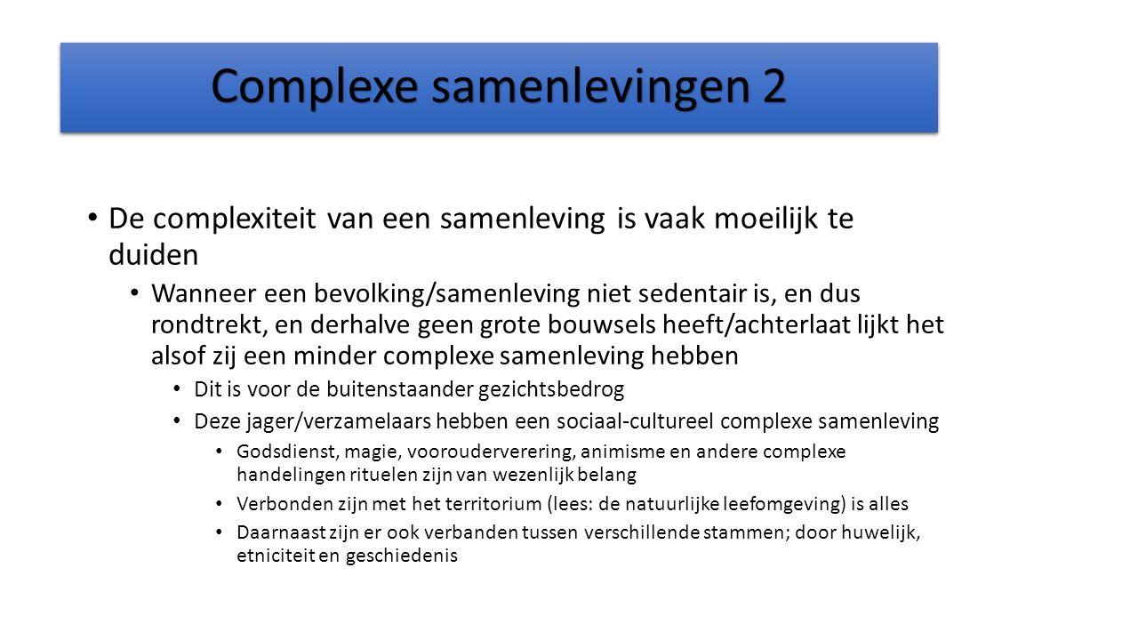 Complexe samenlevingen 2