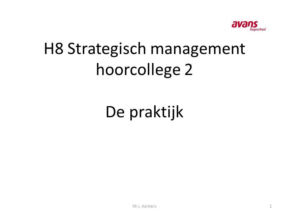 H8 Strategisch management hoorcollege 2 De praktijk