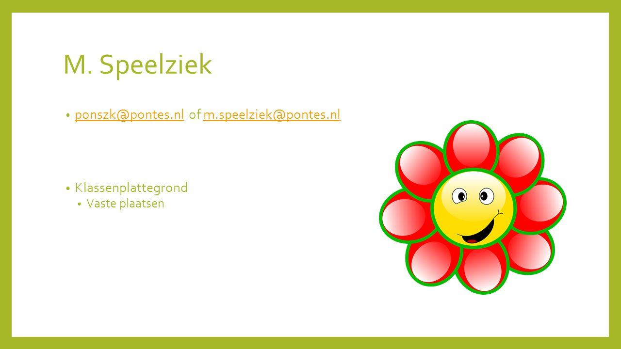M. Speelziek ponszk@pontes.nl of m.speelziek@pontes.nl