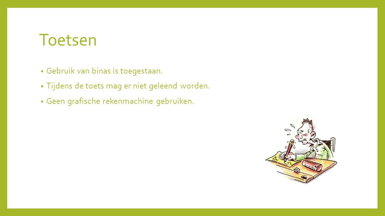 Toetsen Gebruik van binas is toegestaan.