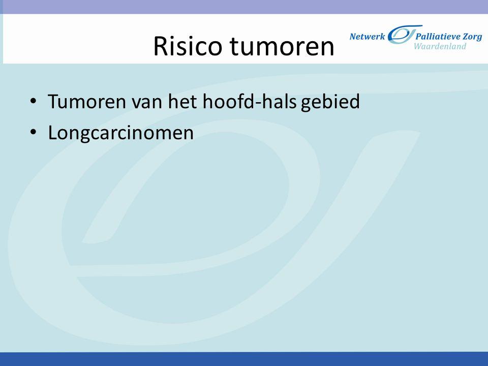 Risico tumoren Tumoren van het hoofd-hals gebied Longcarcinomen