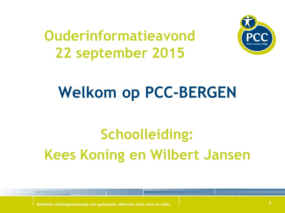 Ouderinformatieavond 22 september 2015
