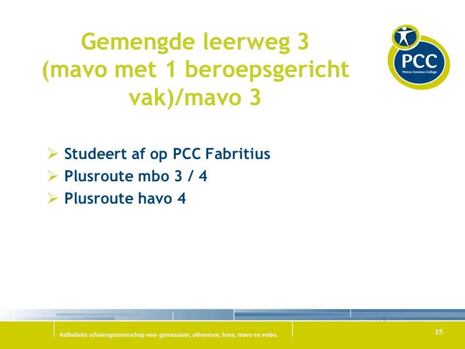 Gemengde leerweg 3 (mavo met 1 beroepsgericht vak)/mavo 3