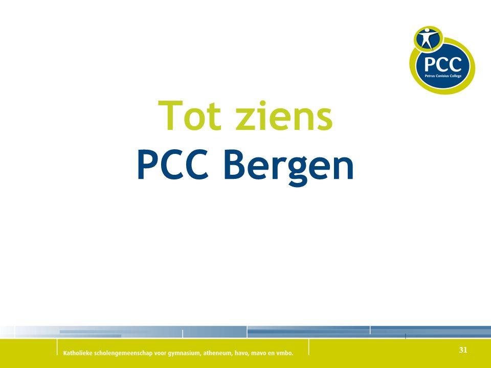 Tot ziens PCC Bergen