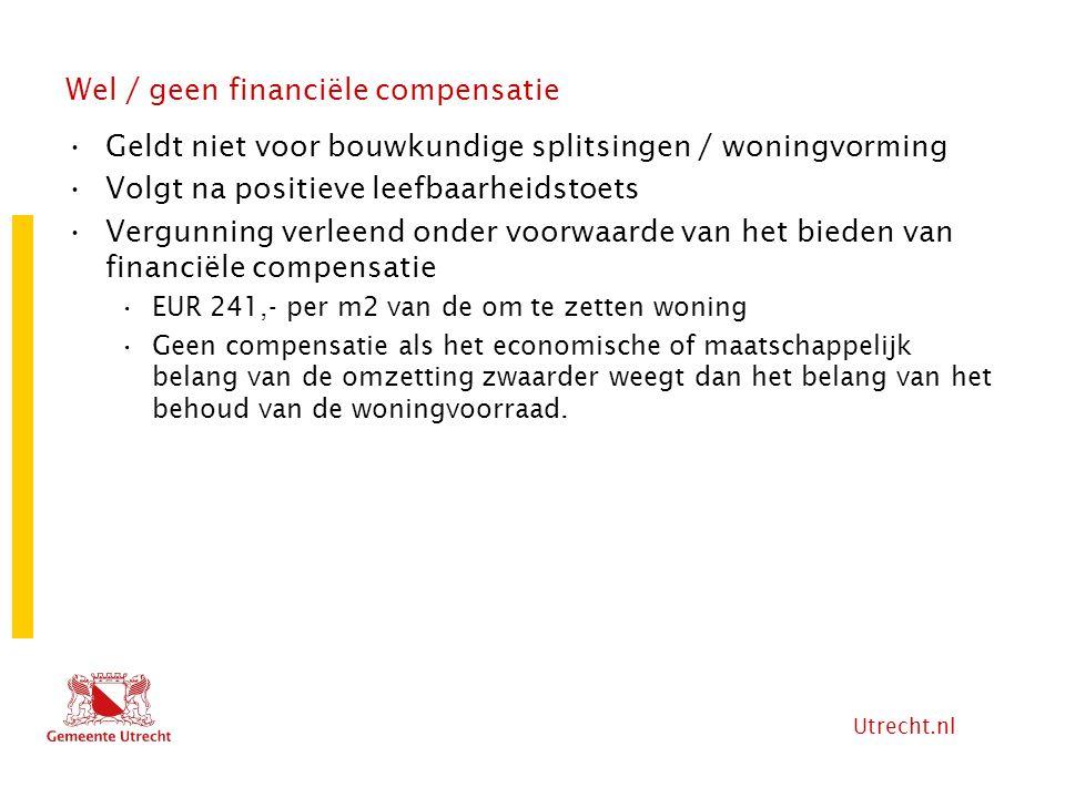 Wel / geen financiële compensatie