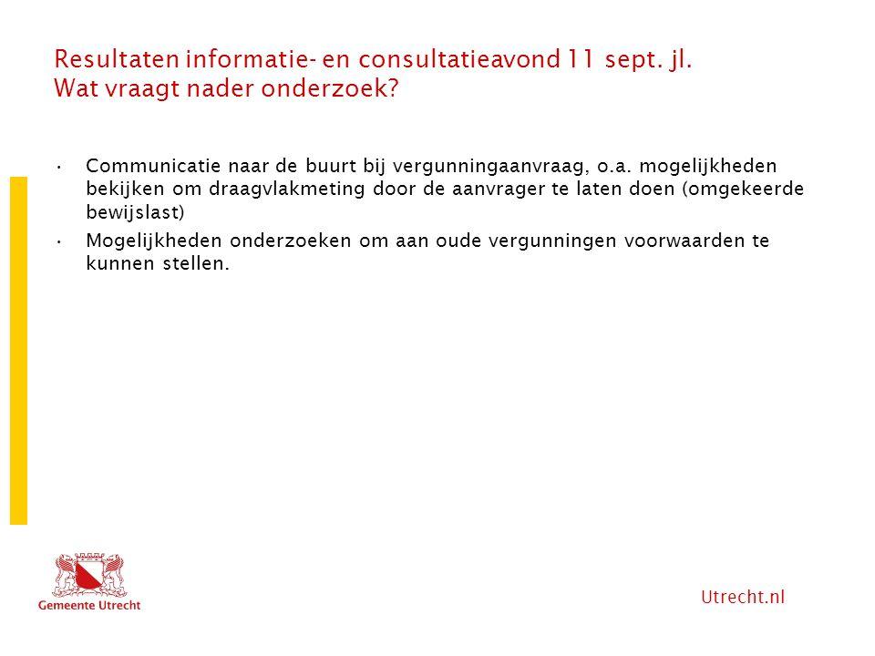 Resultaten informatie- en consultatieavond 11 sept. jl