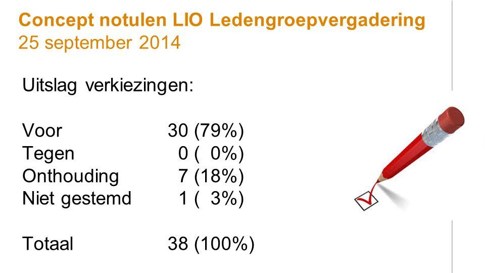 Concept notulen LIO Ledengroepvergadering 25 september 2014