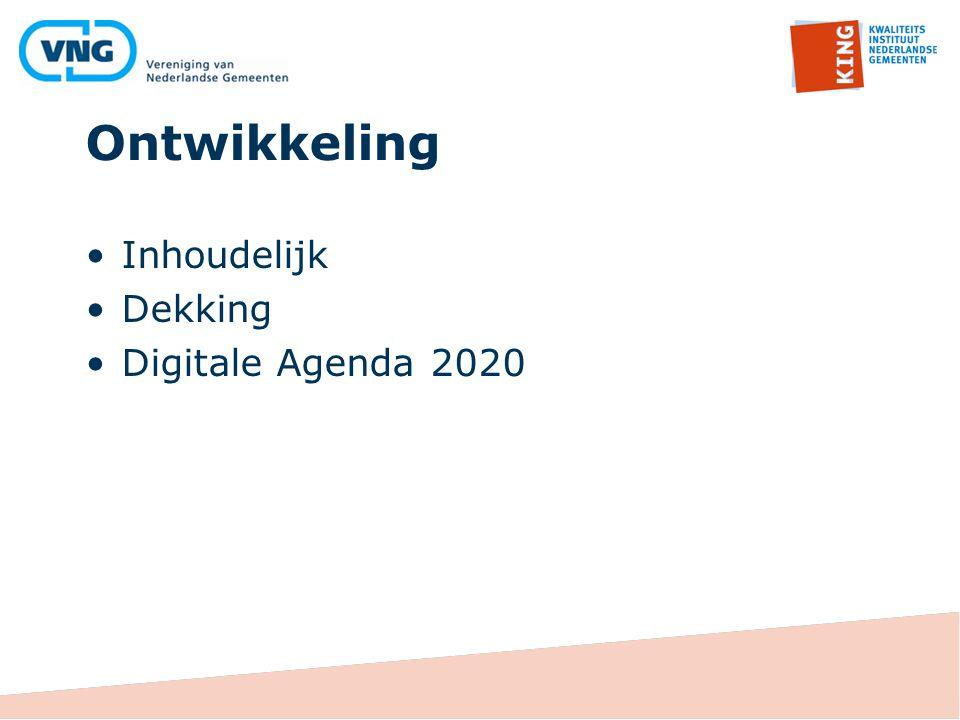 Ontwikkeling Inhoudelijk Dekking Digitale Agenda 2020