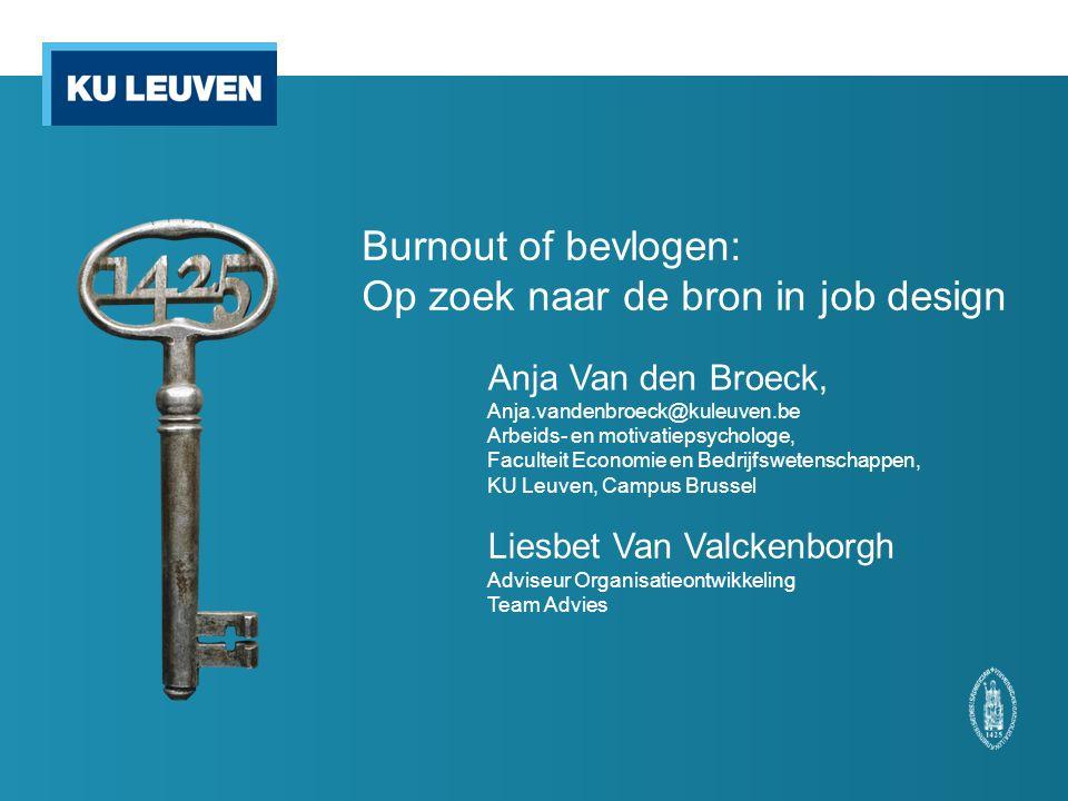 Burnout of bevlogen: Op zoek naar de bron in job design