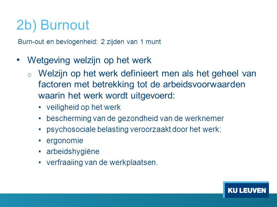 2b) Burnout Wetgeving welzijn op het werk
