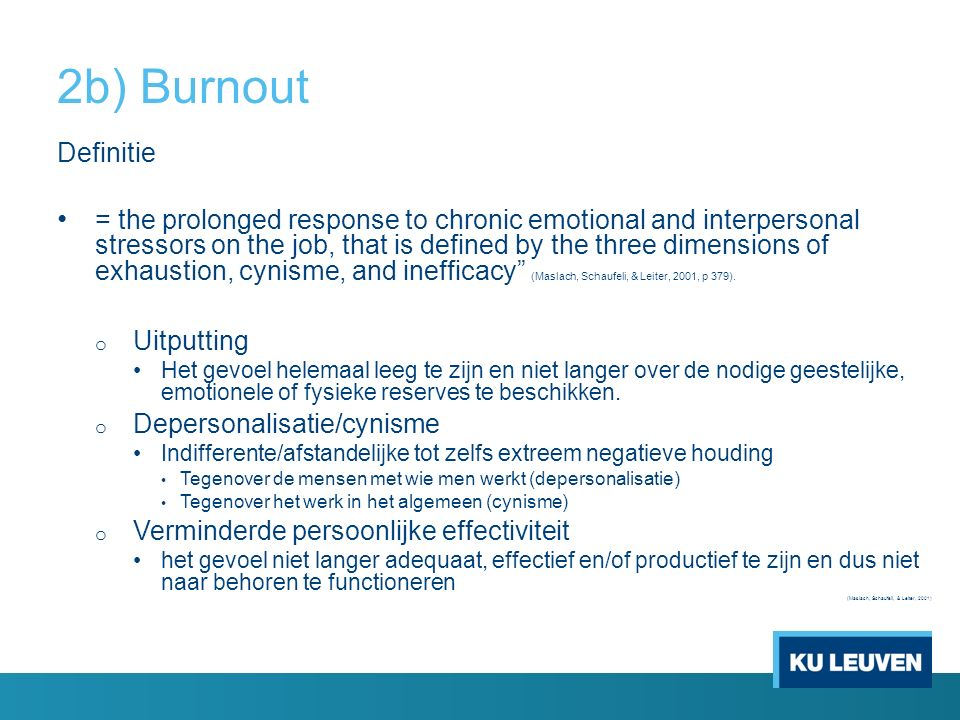 2b) Burnout Definitie.