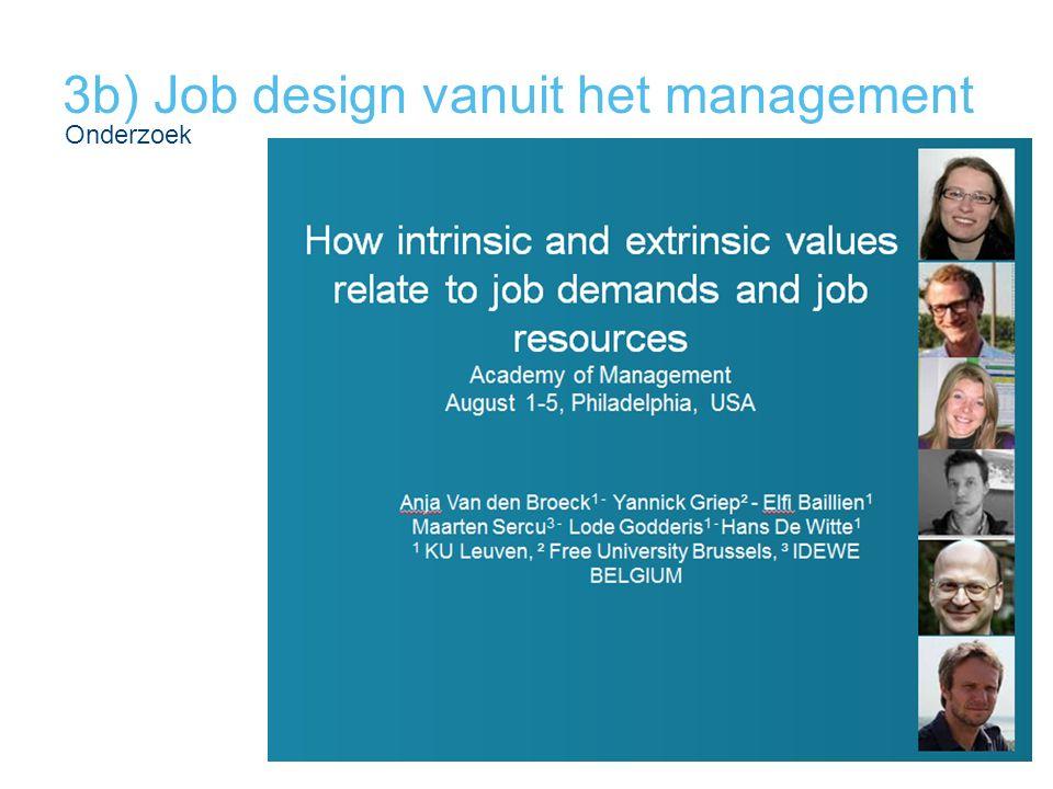 3b) Job design vanuit het management
