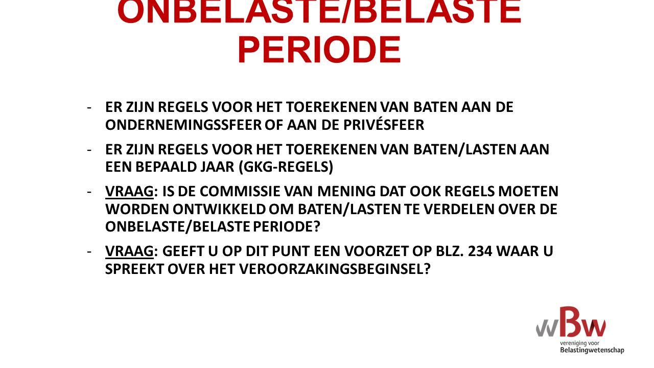 ONBELASTE/BELASTE PERIODE