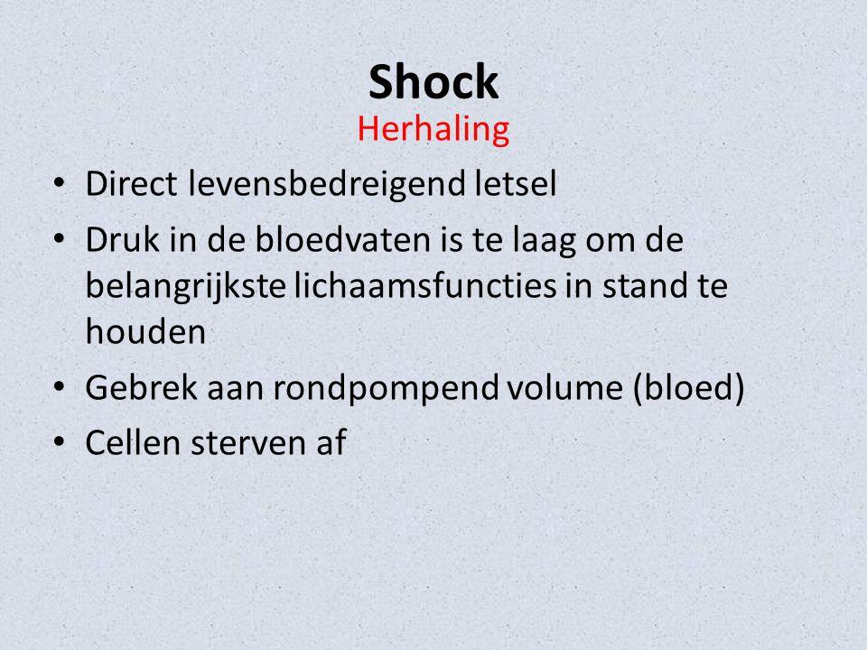 Shock Herhaling Direct levensbedreigend letsel