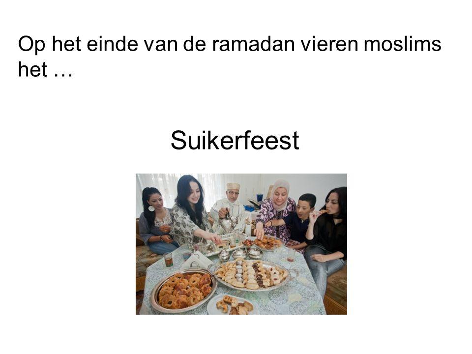 Op het einde van de ramadan vieren moslims